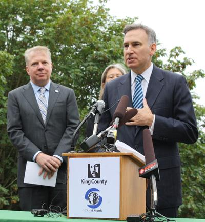 King County Executive Dow Constantine and Seattle Mayor Ed Murray announce the news